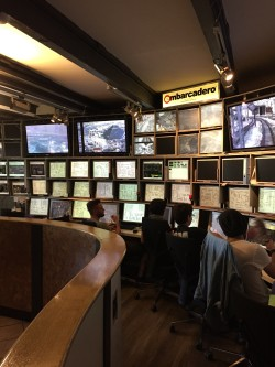 The impressive control centre at the Miniaturen Wunderland, the largest model railway in the world.